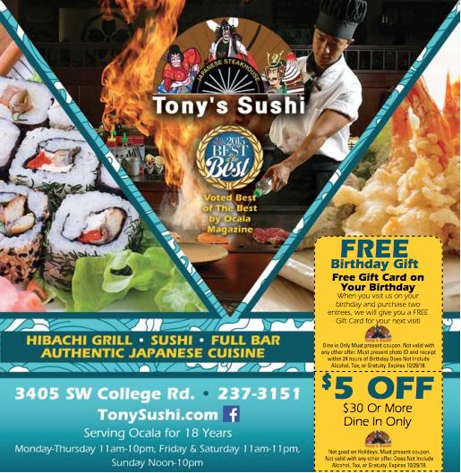 Tony S Sushi Restaurant Deals Free Birthday Stuff Food Coupon