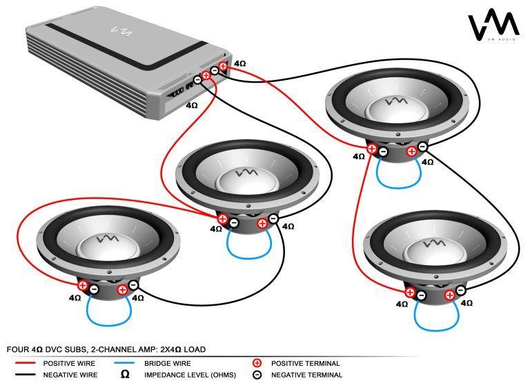 4 4 ohm subwoofer wiring diagram  subwoofer wiring car
