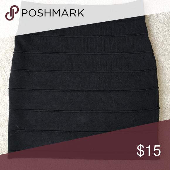 Black BodyCon Bandage Skirt, SM Jet black, size small, 70% rayon, 30% nylon. Bandage bodycon skirt. Brand New w/o tag Ambiance  Skirts Mini