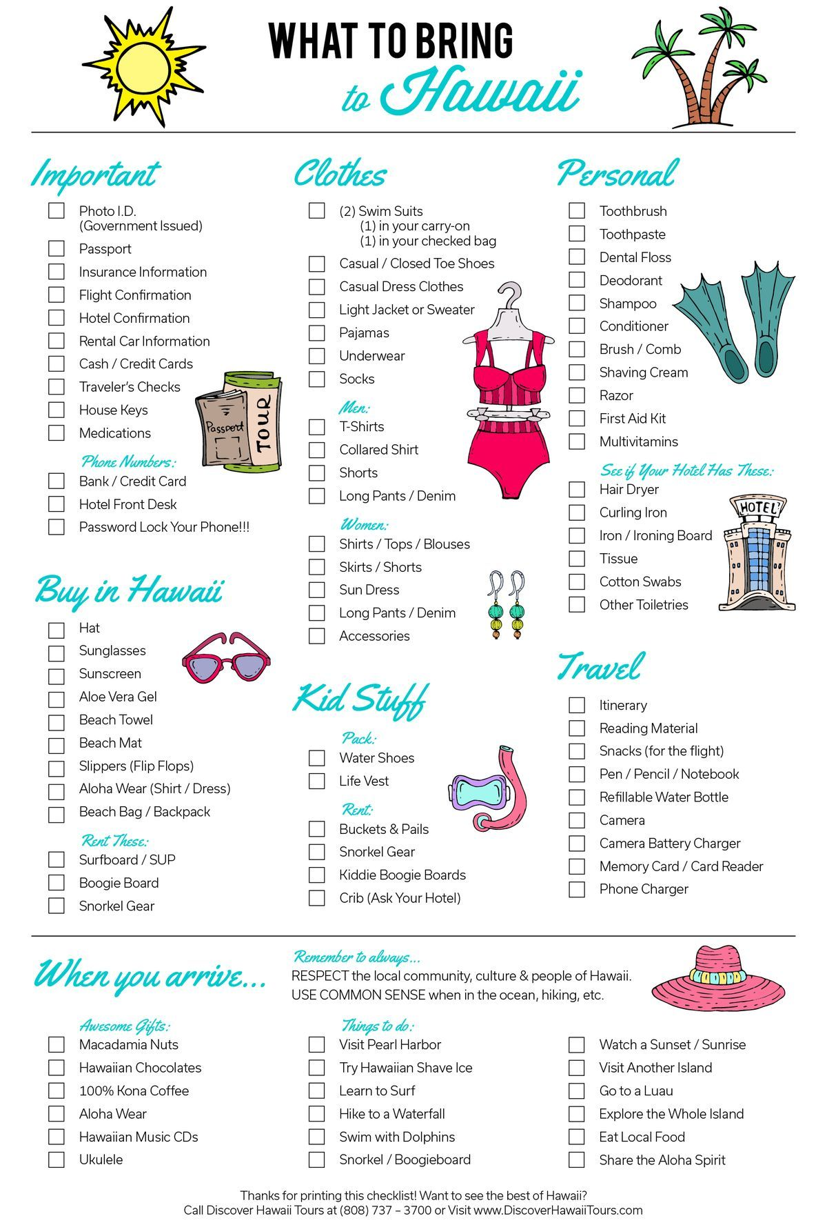 12 Hawaii Packing Lists Printables And Outfits To Wear