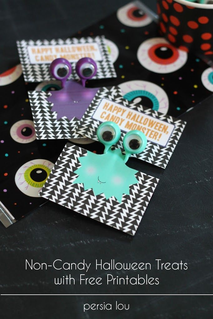 non candy halloween treat with free printable
