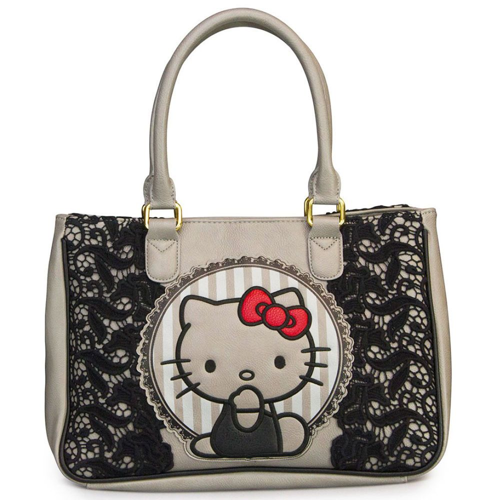5180f82f0c Fab find ※ LOUNGEFLY Hangbag Bag HELLO KITTY Tote Purse SANRIO Black Lace  SATCHEL Red Bow