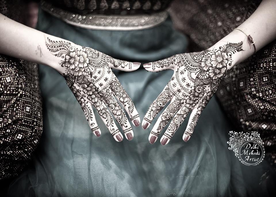 Henna Art by Delhi Mehendi Artist henna art design