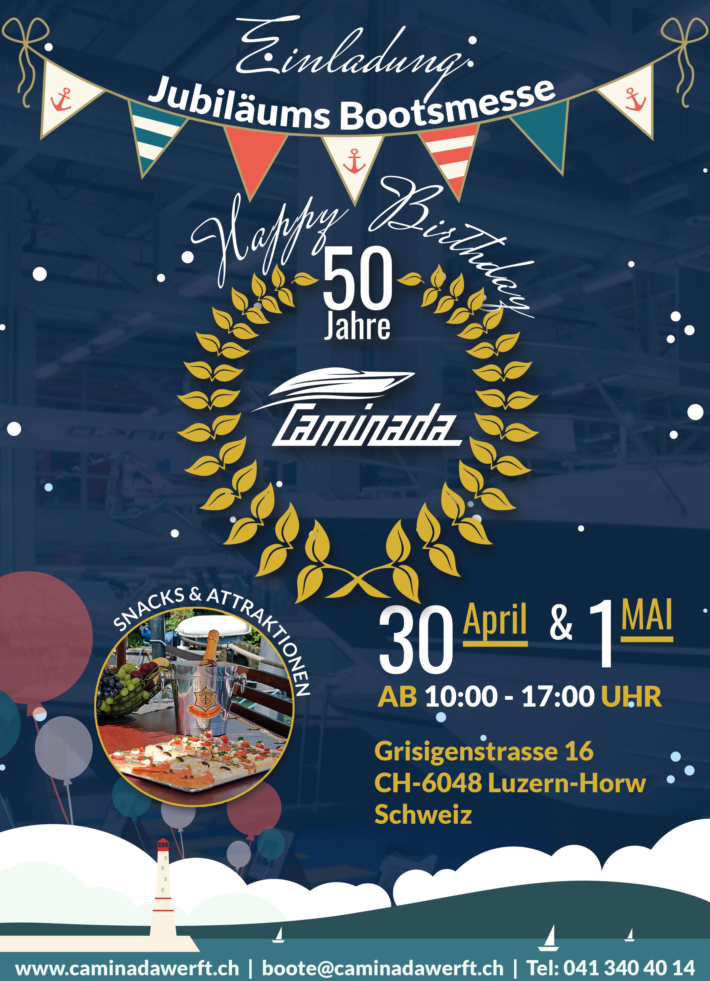 20 Jahre Caminada Werft Horw. Komme am 20.20. & 20.20.20206 und Feier ...