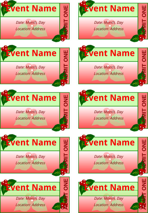 Event Ticket Template  TemplatesForms    Ticket