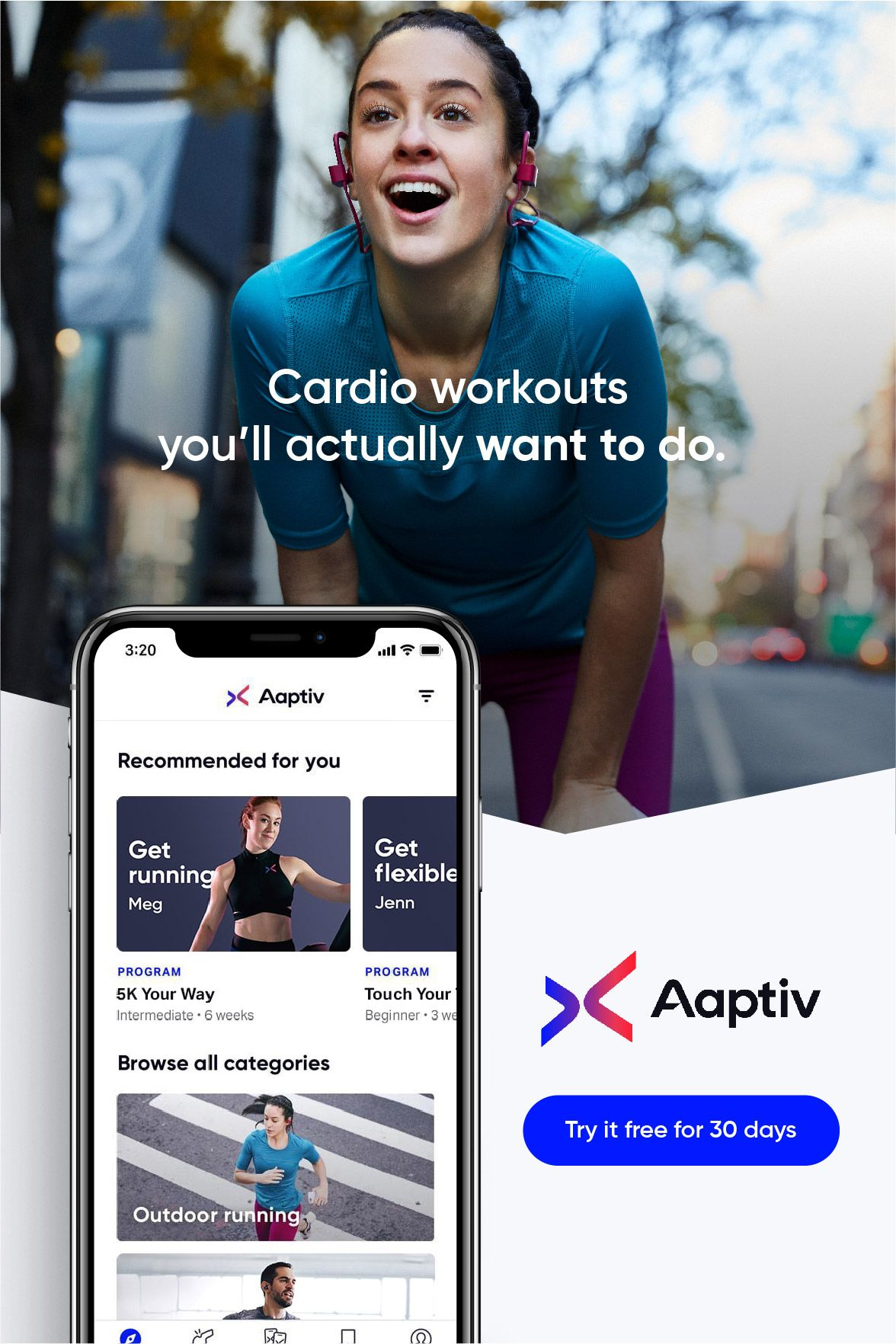 Try Aaptiv FREE for 30 Days Workout apps, Workout