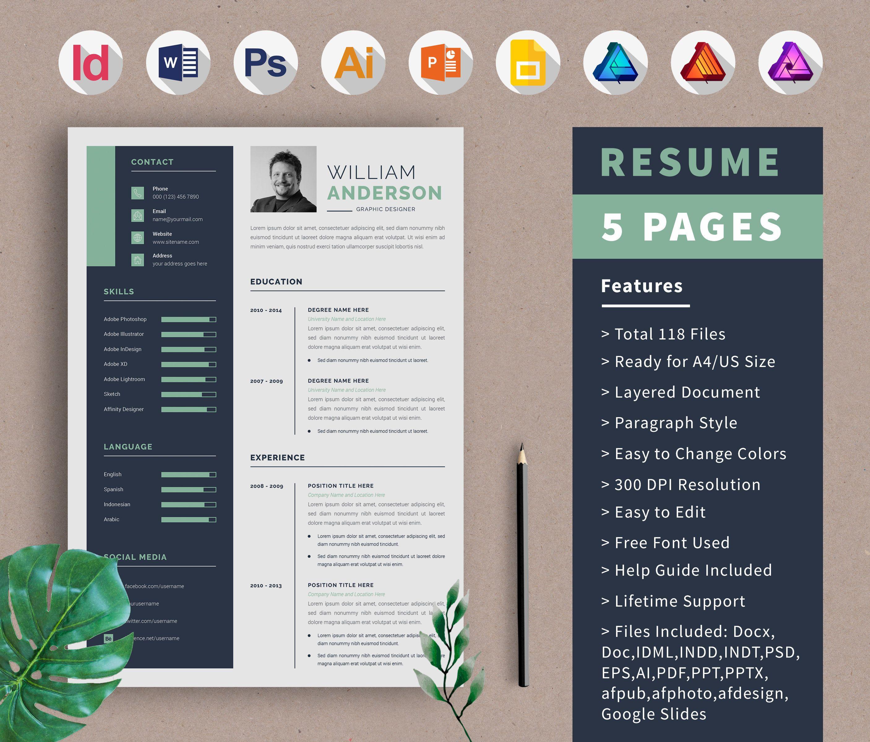 Resume Template Cv Design Portfolio Template Cover Letter Etsy Portfolio Template Design Resume Template Portfolio Templates