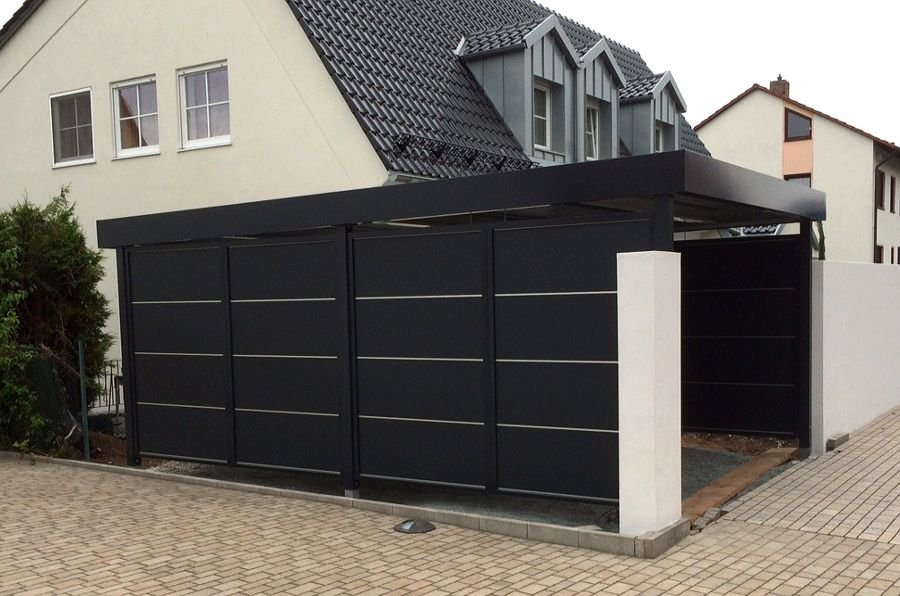 myport carport trespa black carport carports. Black Bedroom Furniture Sets. Home Design Ideas