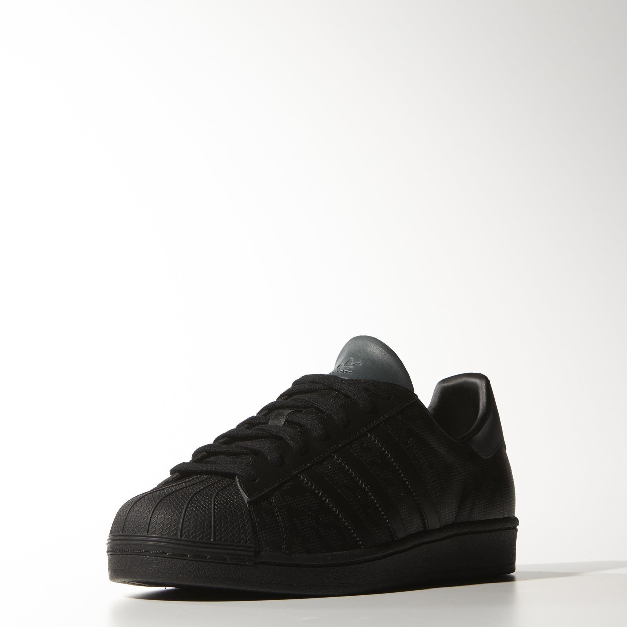 hot sales 3b7fa 07f52 Black adidas Superstar Shoes -