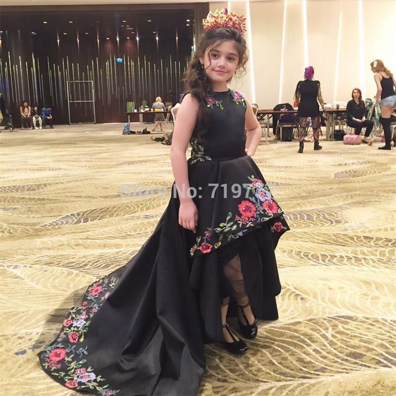 dd4a0b35731c Ever-Pretty-Black-Kids-Evening-Gowns-High-Low-Graduation-Dresses ...