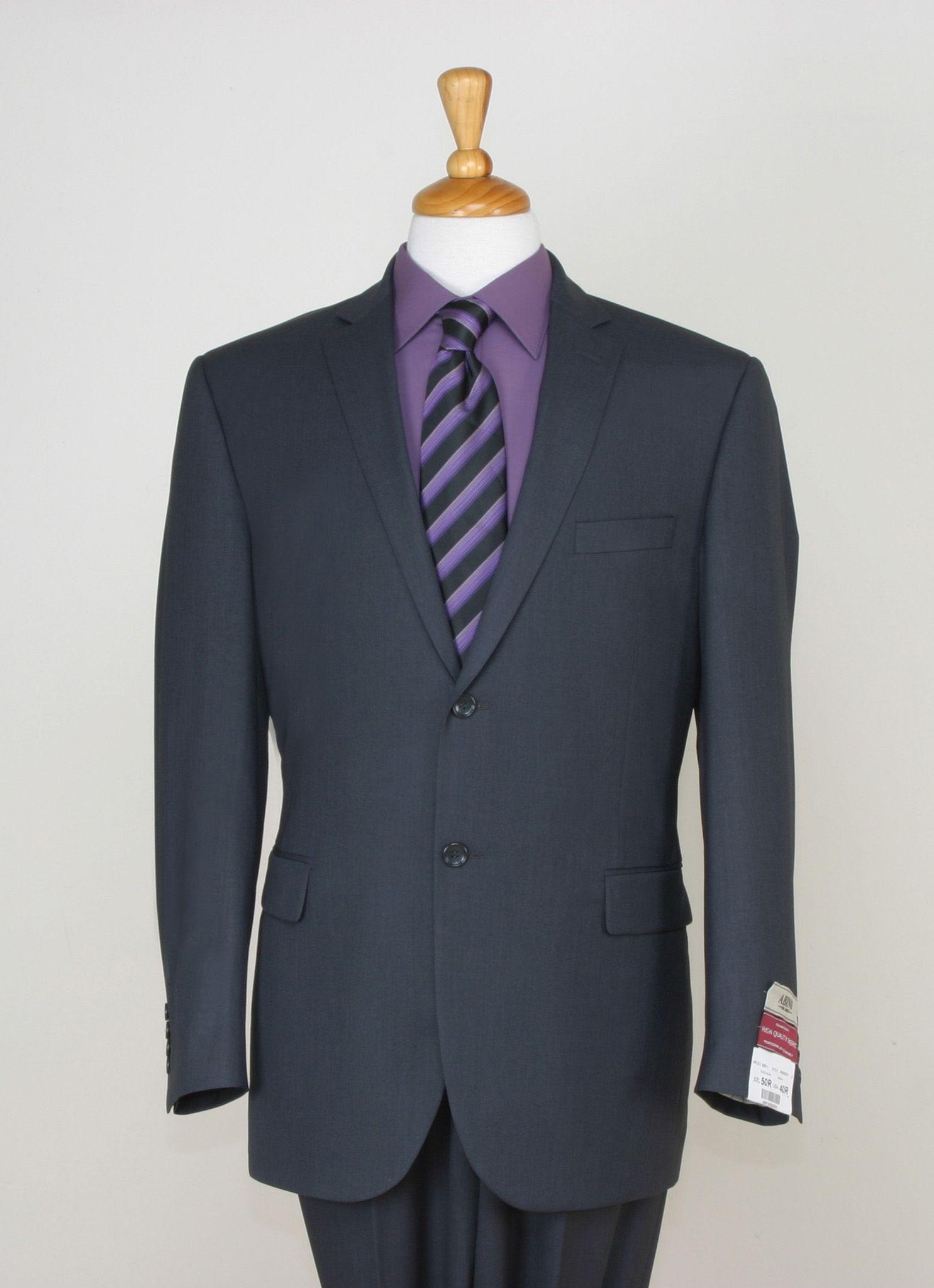 94206344184 Braveman Men s 2 Piece Classic Suit - 2 Button Jacket and Flat Front Pants