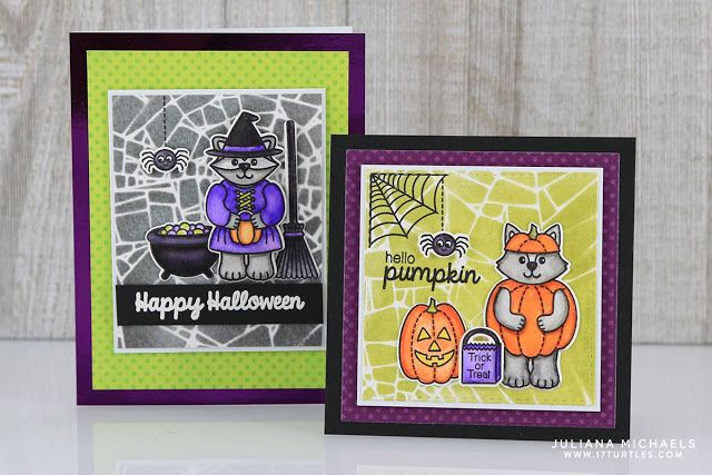 Sunny Studio Stamps Halloween Cuties Cards by Juliana Michaels - halloween michaels