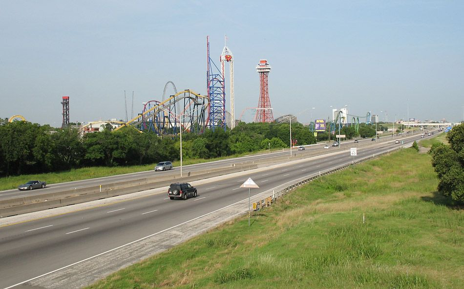 I 30 Mid Cities Photos Six Flags Over Texas Six Flags Thrill Ride