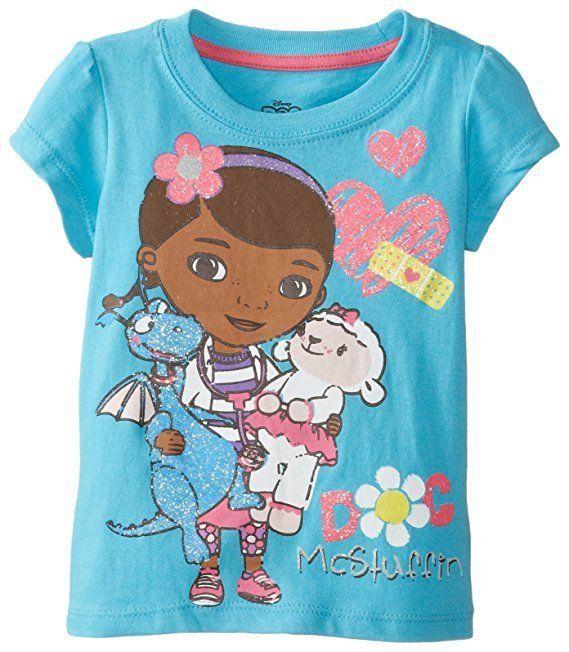 8b6a1402cf Disney Doc McStuffins Girls Short Sleeve Dragon Stuffy t Shirt Size 10  12  14  Disney  Everyday