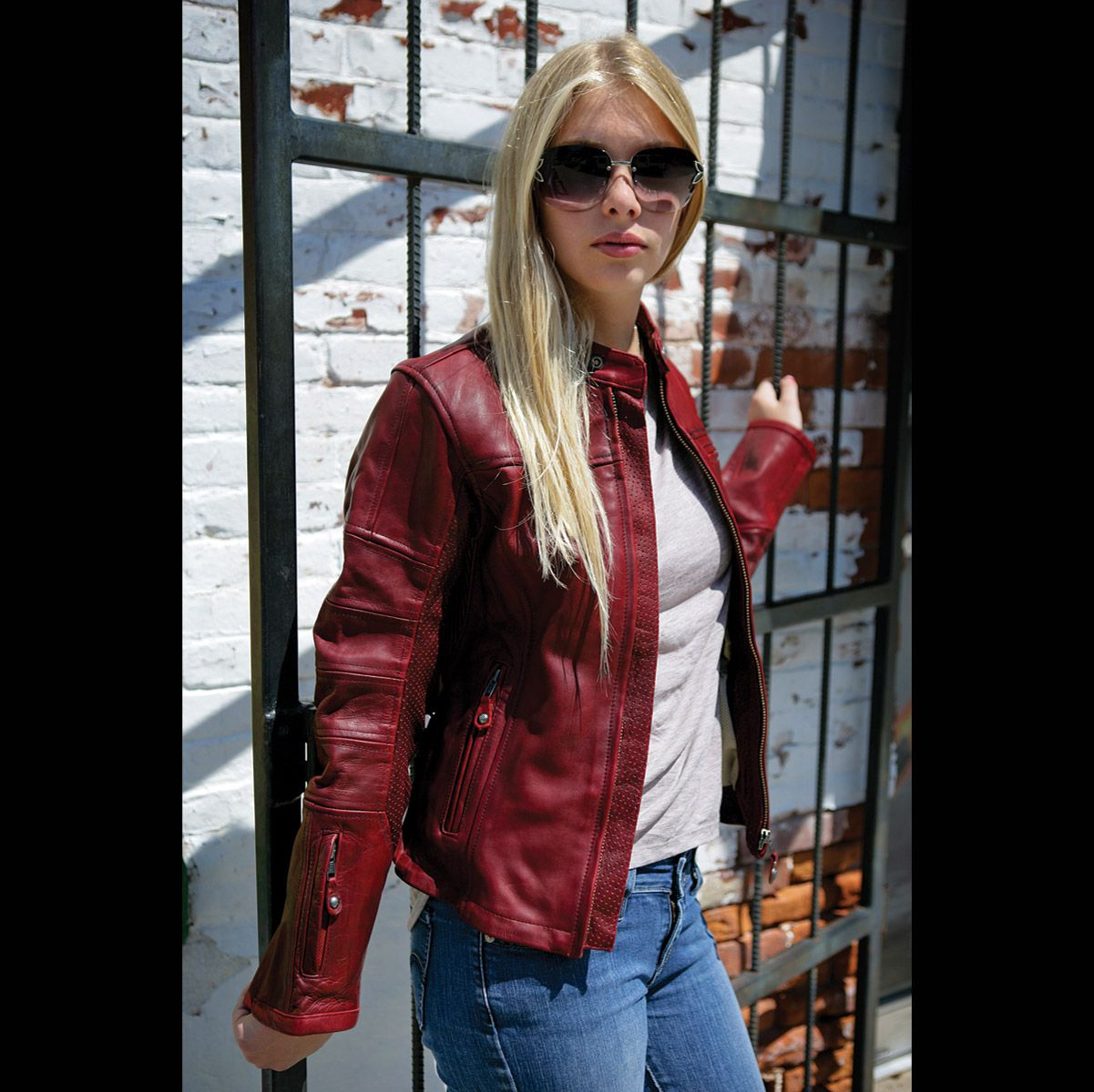 Roland Sands Maven Womens Jacket This Is The Female Version Of The Ronin For Men Red Leather Jacket Leather Jacket Oxblood Red [ 1200 x 1201 Pixel ]