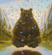 Robert Bissell.  I've always loved butterflies, but mixed with such large animals, mixture of hard and soft. Love it.