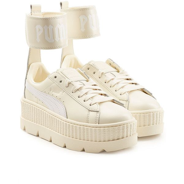 50f14879b722 FENTY Puma by Rihanna Ankle Strap Leather Creeper Sneakers (£160) ❤ liked  on Polyvore featuring shoes