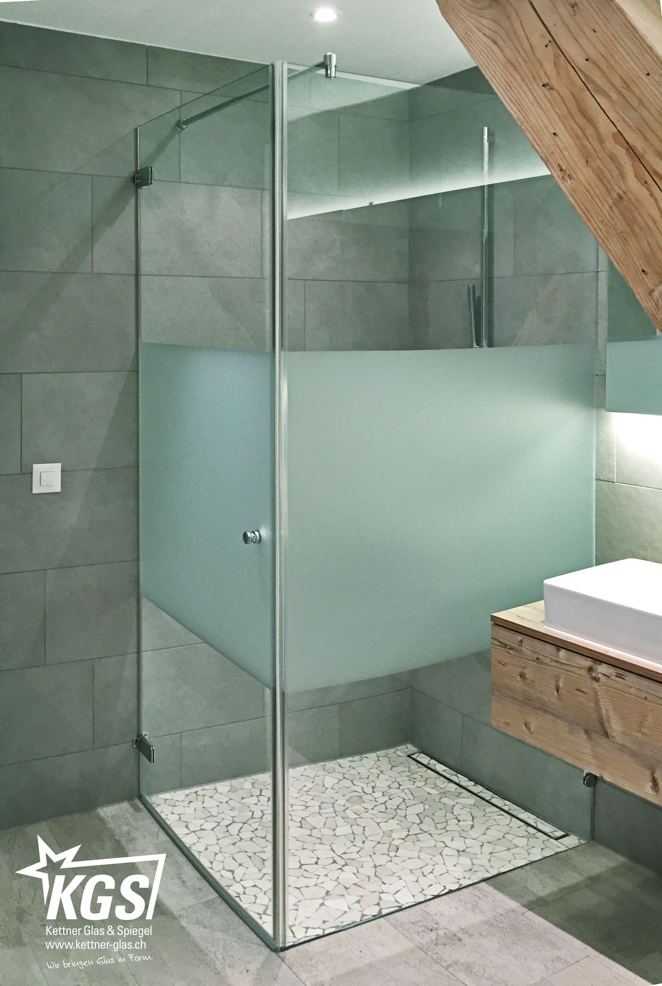 Duschkabine mit individuellem Sichtschutz von Ihrer