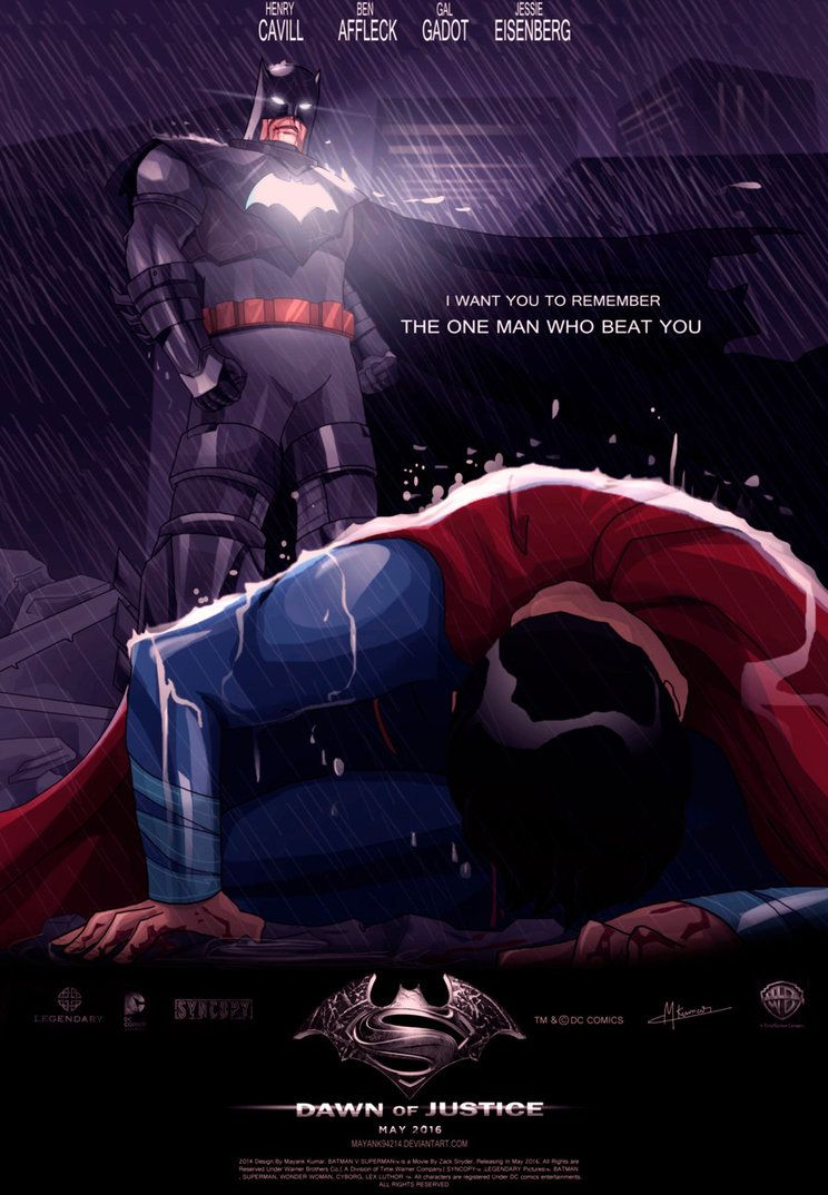 BATMAN V SUPERMAN Dawn Of Justice by Mayank94214 on