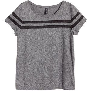 H&M Top with mesh stripes