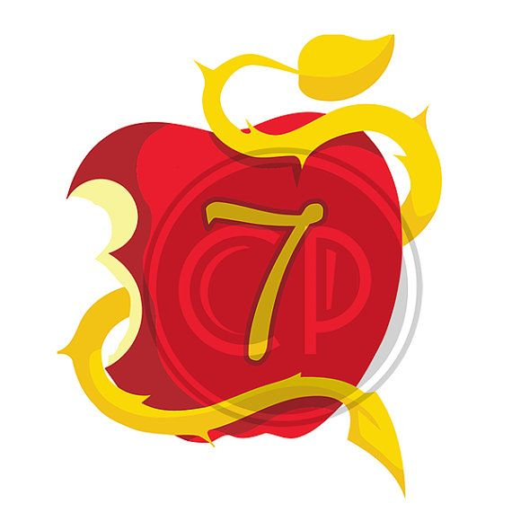 Descendants Apple Numbers 0 Though 9 With Free Blank Apple Disney Descendants Party Descendants Party Descendants