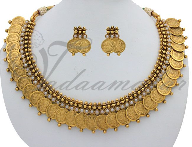 Kasu mala with goddess Lakshmi design httpwwwvadaamalarcom