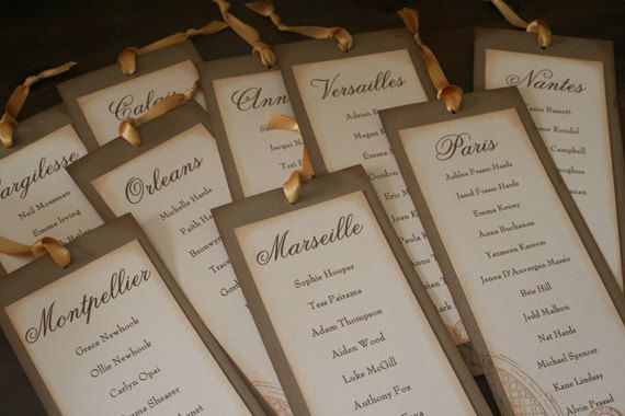 Wedding Seating Plan Escort Cards Vintage By FaithfulCrafter 275