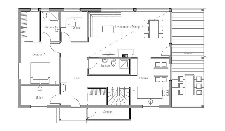 love this floor plan the whole 2nd floor is kid space 3 bdrms up master on main house plan potential pinterest small house plans small houses and
