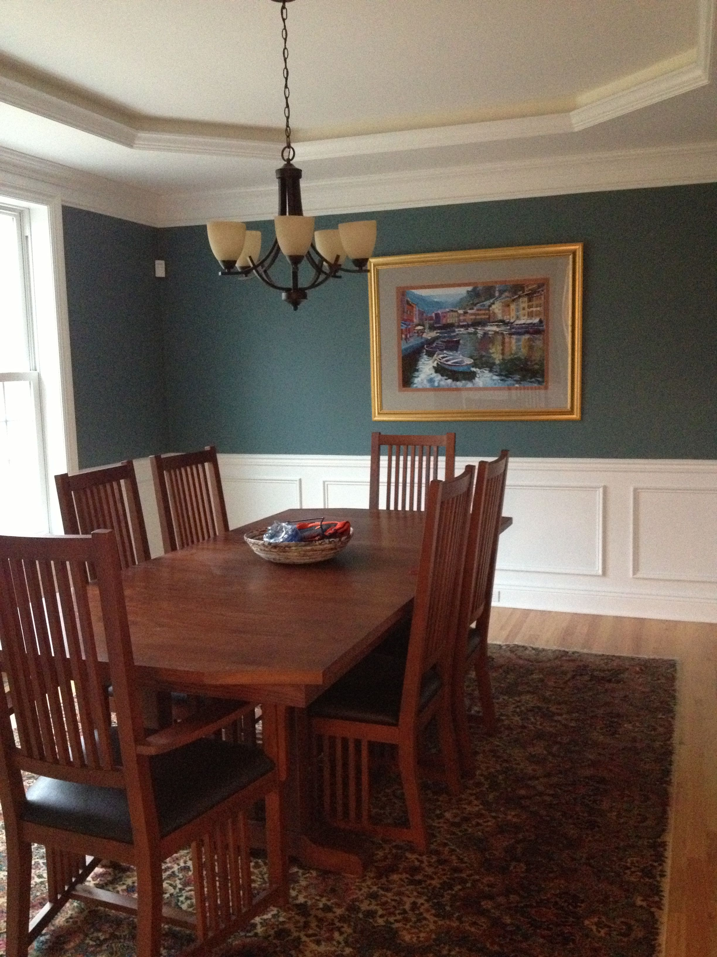 Dining Room Sherwin Williams Sw 7617 Mediterranean Satin Doors Pinterest Satin