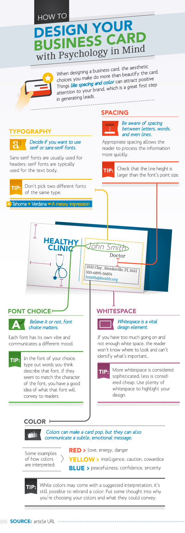 Design Your Business Card With Psychology In Mind | Infographic #Design