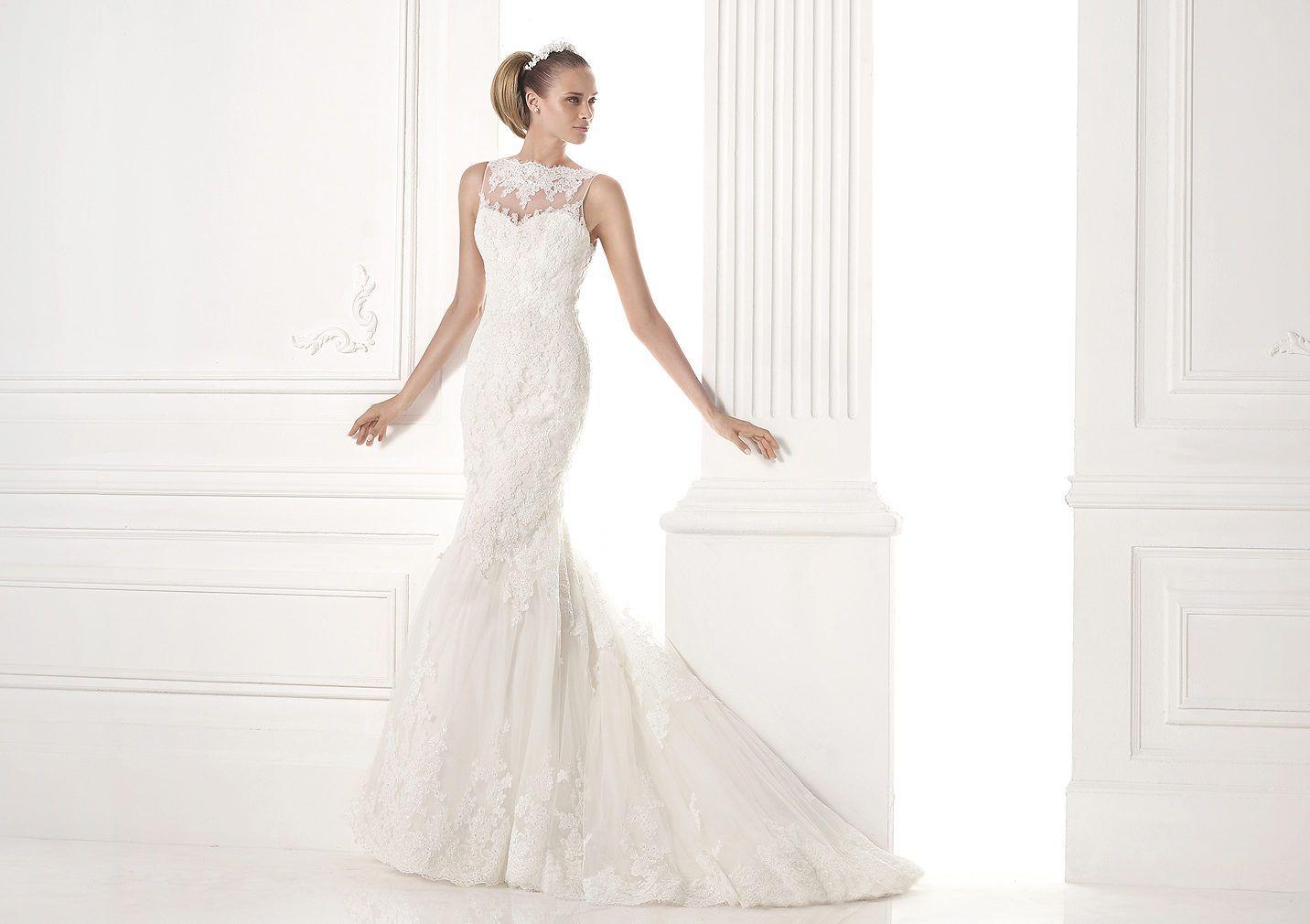 MARYLAND - Vestido novia con falda con godet. Pronovias 2015 ...