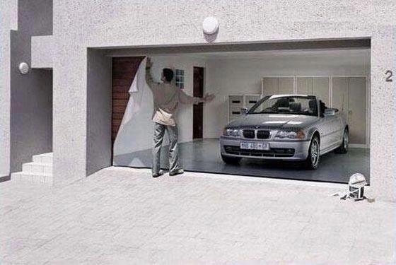 Garage Door Wallpaper Garage Design Garage Doors Door Murals