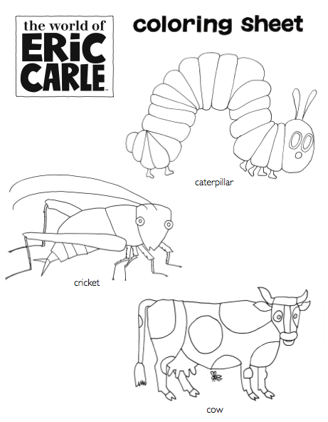 Eric Carle Coloring Pages : carle, coloring, pages, There, Official, World, Carle, Downloadable, Activities, Available, Here:, Https://www.facebook.co…, Activities,, Carle,