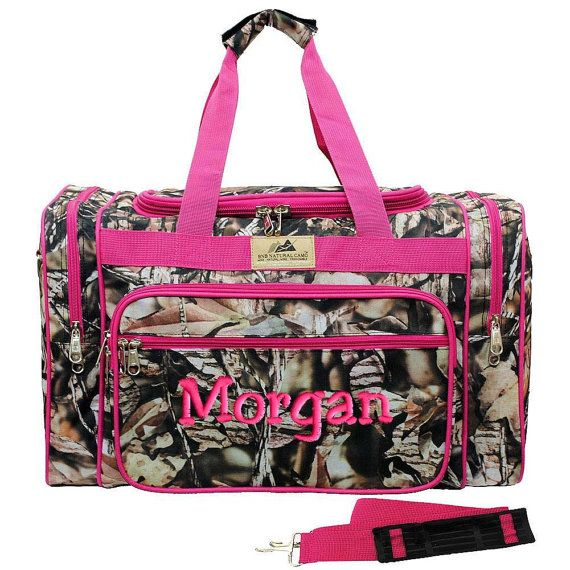 Personalized Duffle Bag Natural Camo Hot Pink Gym Camouflage Luggage  Monogrammed on Etsy 47d7eb7793