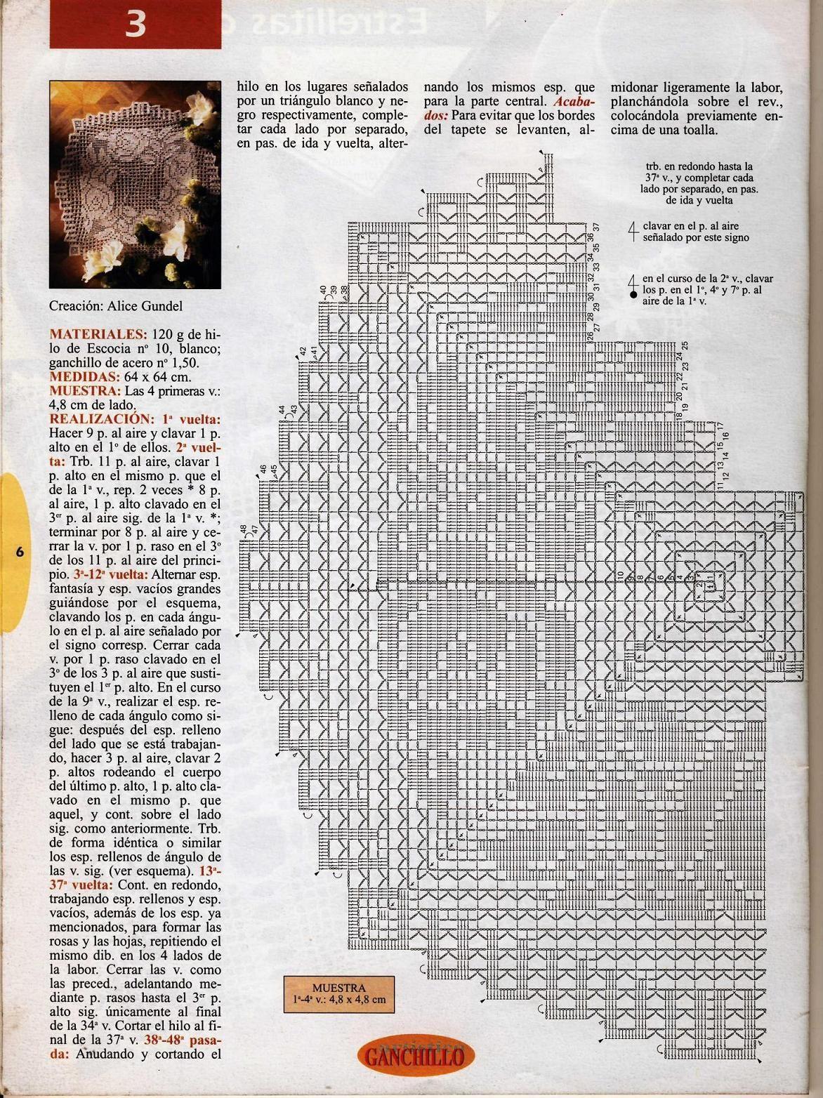 centro rotondo filet ghirlanda di rose (2).JPG (1172×1564)   filet ...