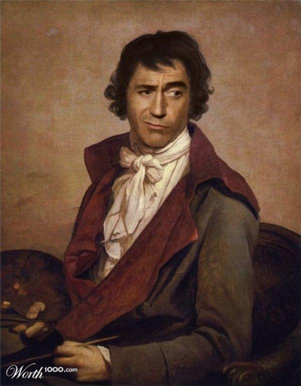 Robert Downey Jr. by Jacques Louis David