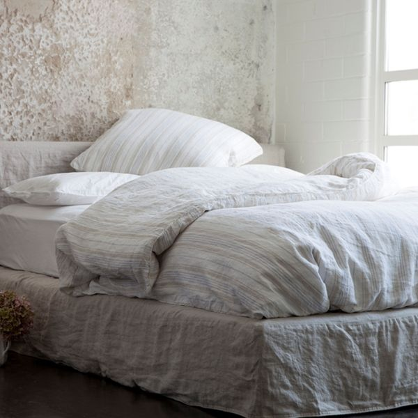 The Kensington Stripe bedding collection ~ Shabby Chic Style & Inspiration ♥ #shabbychic