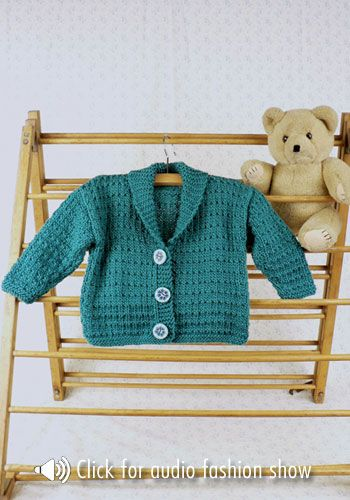 Tumba Toddler\'s Shawl Jacket - free knitting pattern; thanks ...