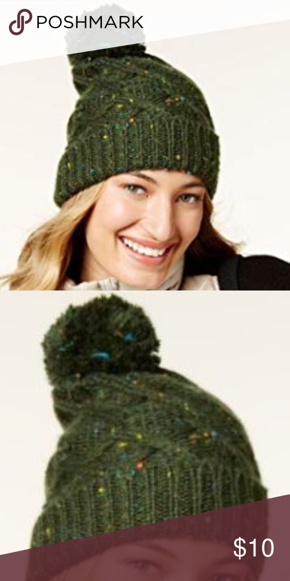 813c4b59507fd I just added this listing on Poshmark  New Steve Madden Green Speckled Cable  Knit Beanie.  shopmycloset  poshmark  fashion  shopping  style  forsale   Steve ...