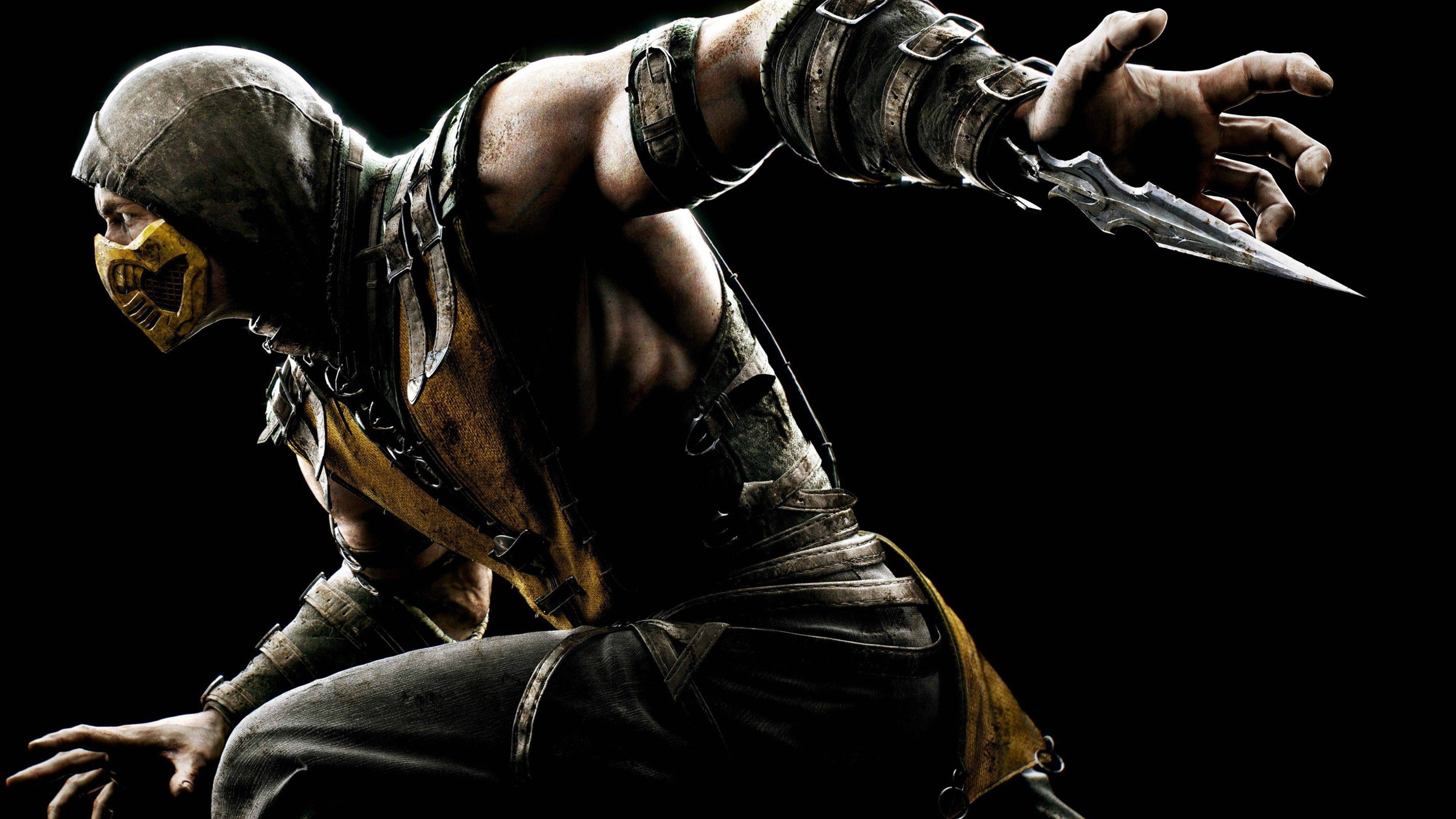 Wallpaper 4k Mortal Kombat X Scorpion games wallpapers