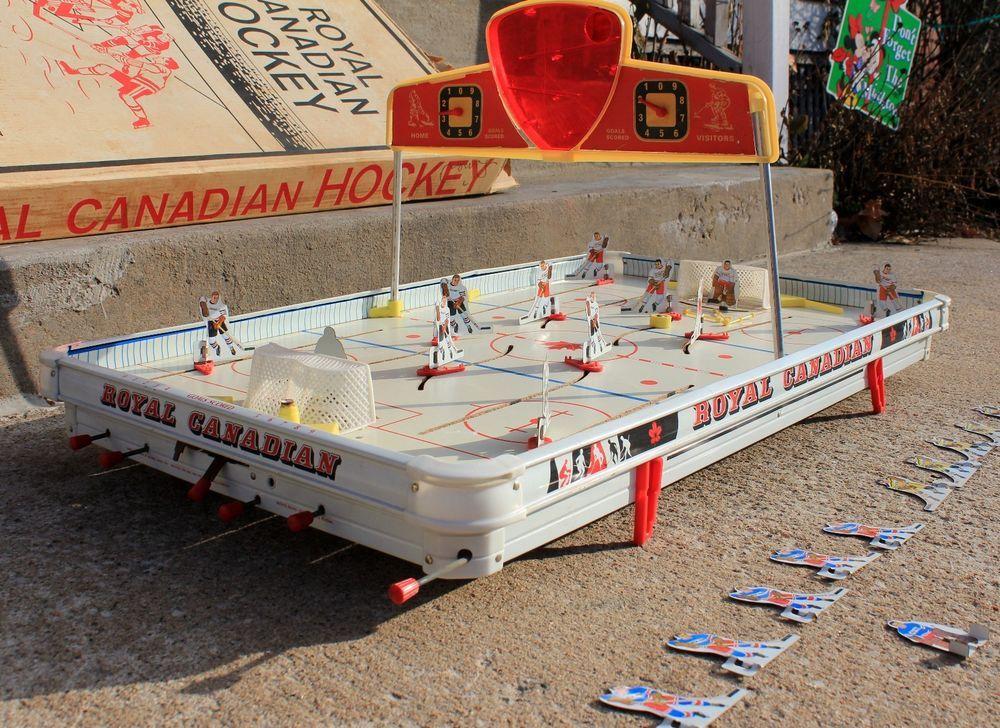 Vintage Munro Sears Canadian Hockey Table Top Game Original Box Model #97721