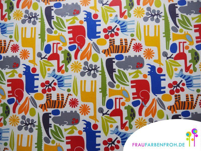 wachstuch zoo beschichtete baumwolle oilcloth von frau farbenfroh wachstuch beschichtete. Black Bedroom Furniture Sets. Home Design Ideas
