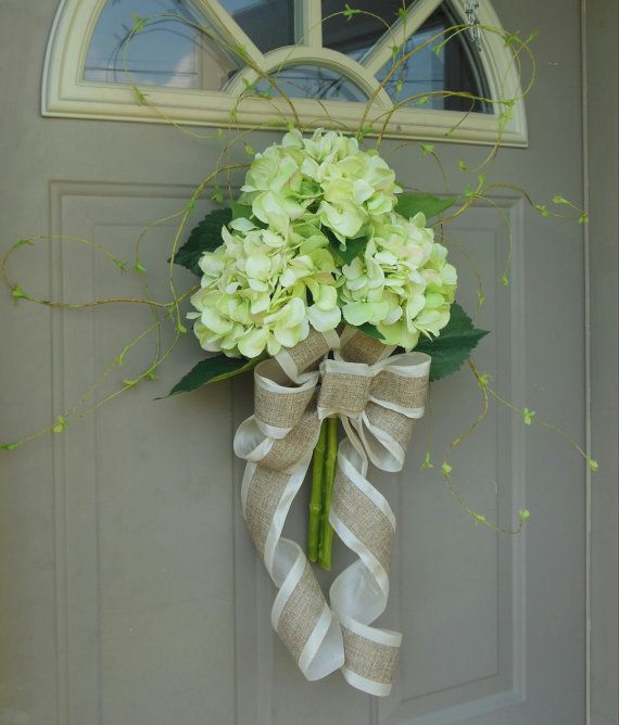 Spring hydrangeas front door wreaths floral arrangements Spring flower arrangements for front door