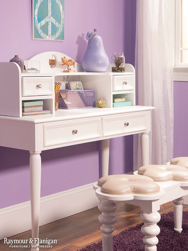 Create an inspiring corner in your child's room for them to do homework and get ready for school. We love this Jamboree Desk in white because it goes with all color schemes.
