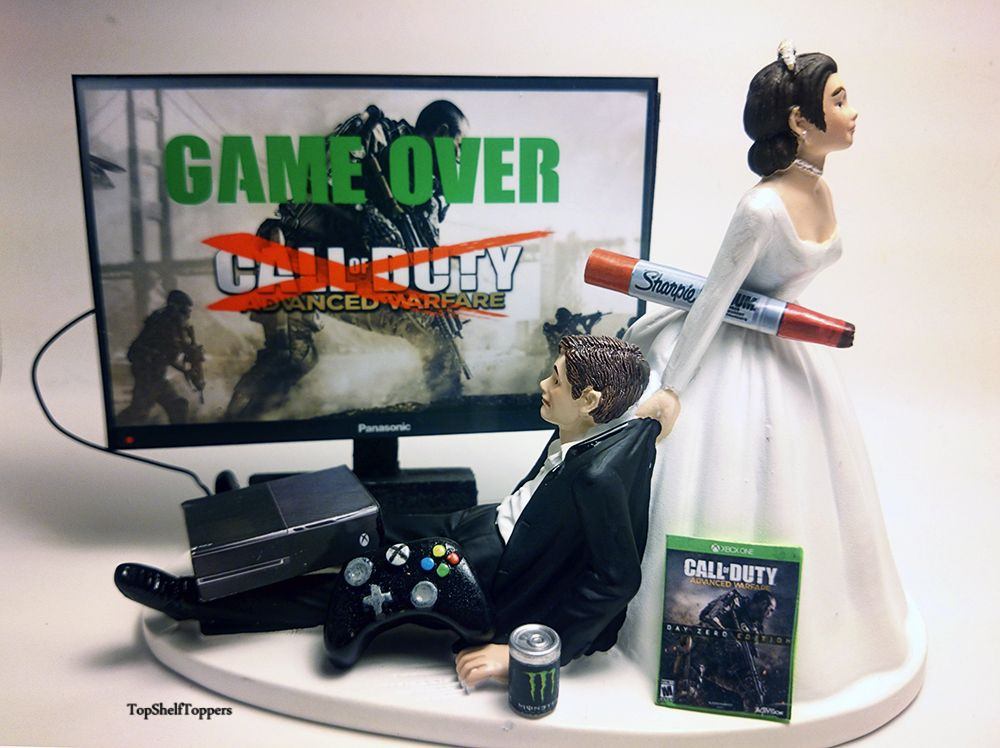 Funny Custom Wedding Cake Topper Video R Cod Bride And Groom Weddings Decorations
