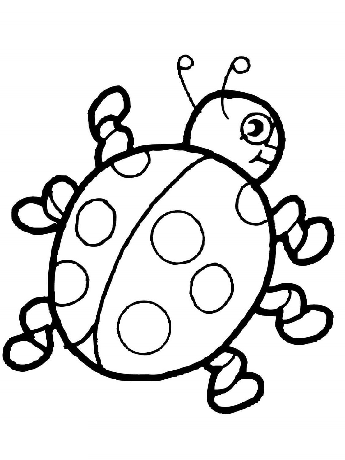 Ladybug Coloring Pages in 2020 Cute coloring pages