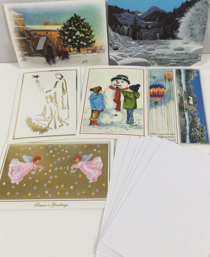 The Mouth And Foot Painting Artists Christmas Greeting Cards Envelopes Set 6 Mouth Foot Painting Greeting Cards Christmas Greeting Cards