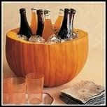 Nice idea for keeping drinks on ice at your Halloween party.