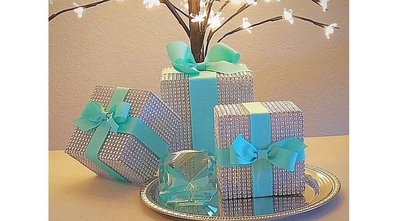 Diy tiffany inspired diamond mesh wedding box decor some
