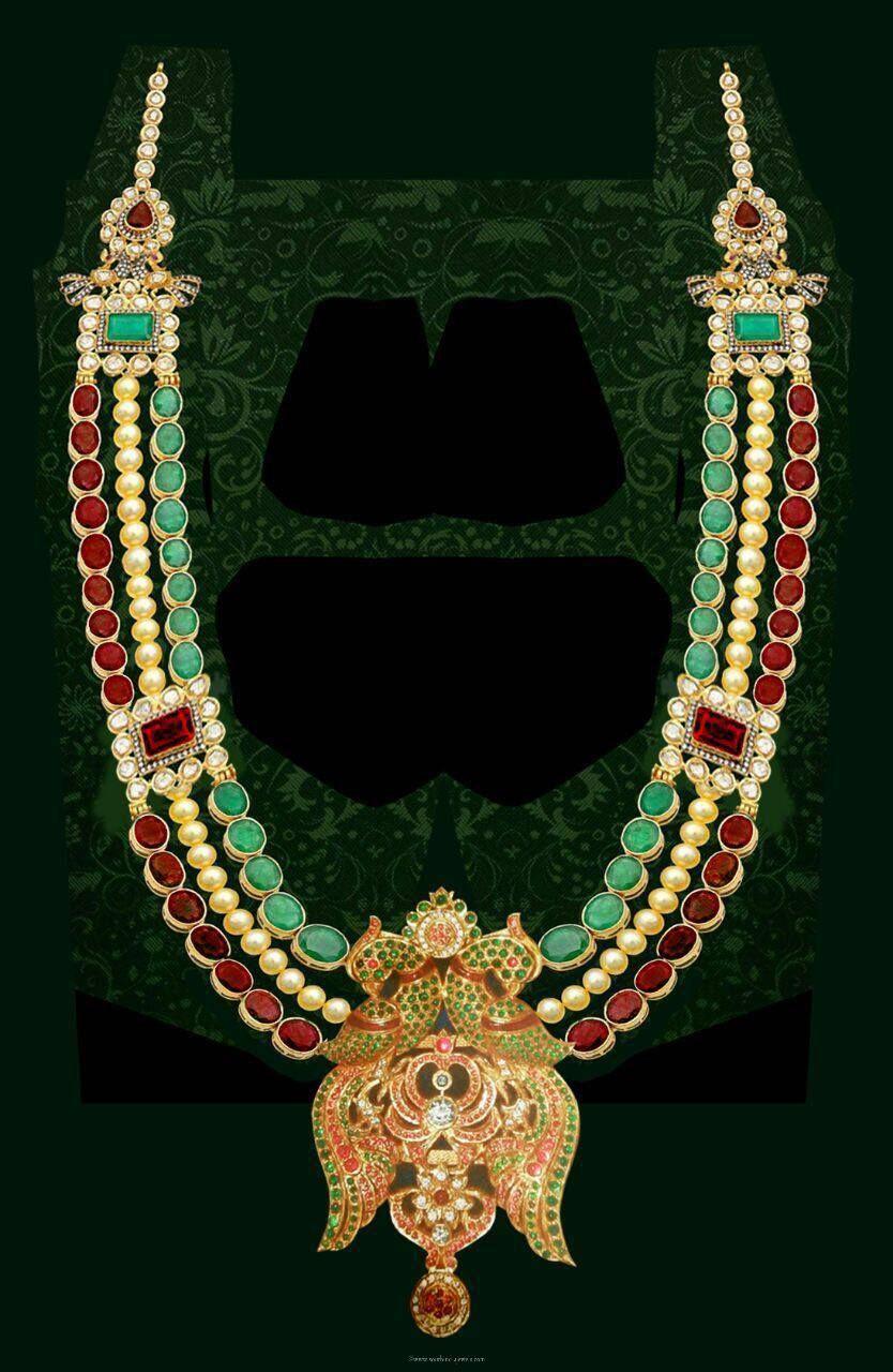 Gold Designer Multilayer Long Necklace | Necklace designs ...